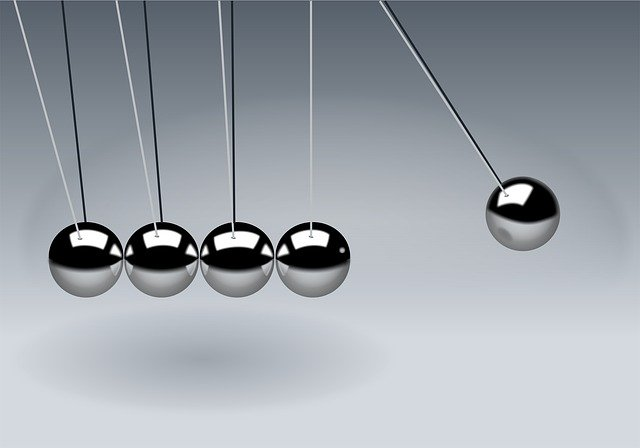 Newton's Cradle, Balls, Sphere, Action, Reaction