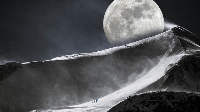 Science, Nature, Moon, Mountain, Universe, Sphere