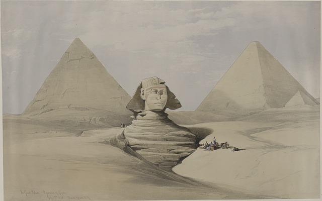 Pyramid, Sphinx, Egypt, Desert, Sand