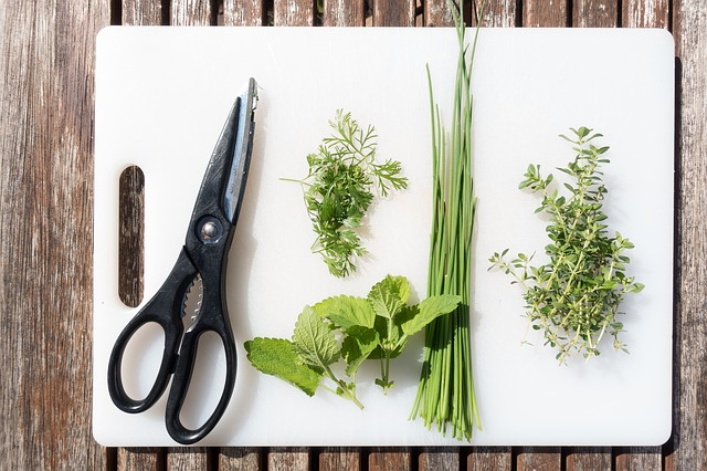Spices, Chervil, Lemon Balm, Chives, Thyme, Cook, Herbs