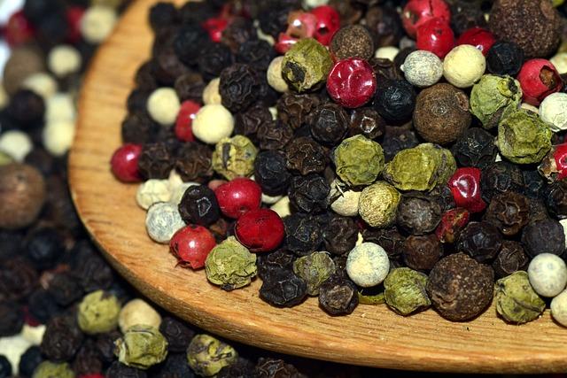 Pepper, Peppercorns, Spices, Season, Grains
