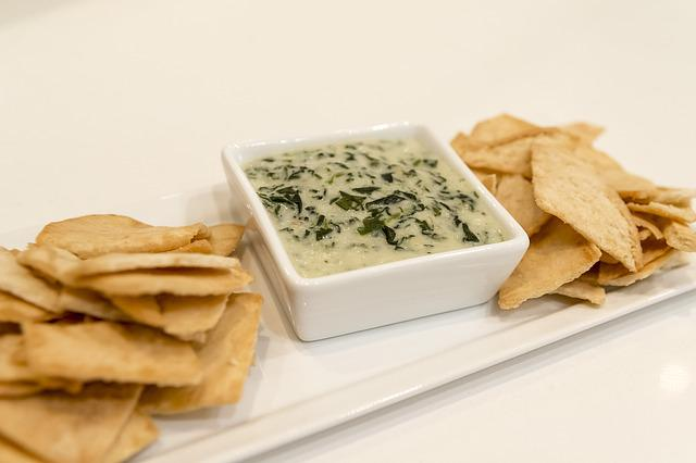 Food, Dip, Chips, Chips And Dip, Artichoke, Spinach