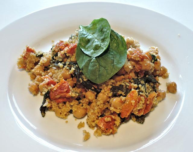 Couscous, Spinach, Tomato, Chickpeas, Food, Spice