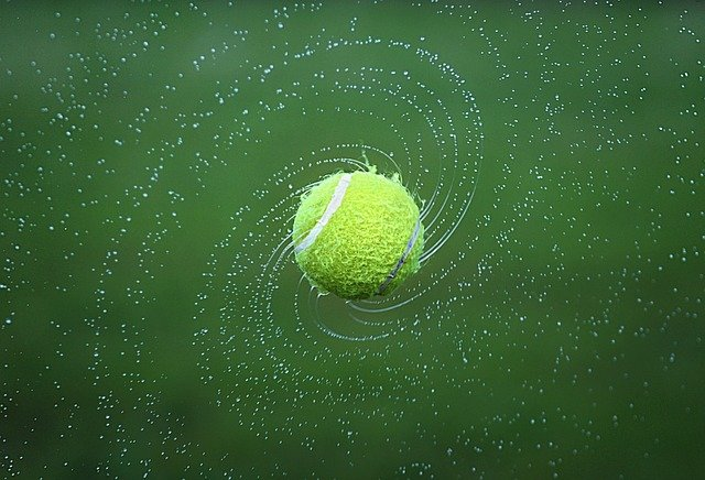Tennis, Tennis Ball, Spinning, Ball, Turning, Round