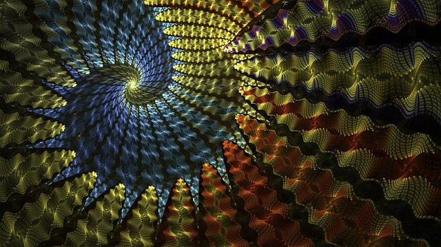 Fractal, Spiral, Colorful, Geometry, Fractal Art