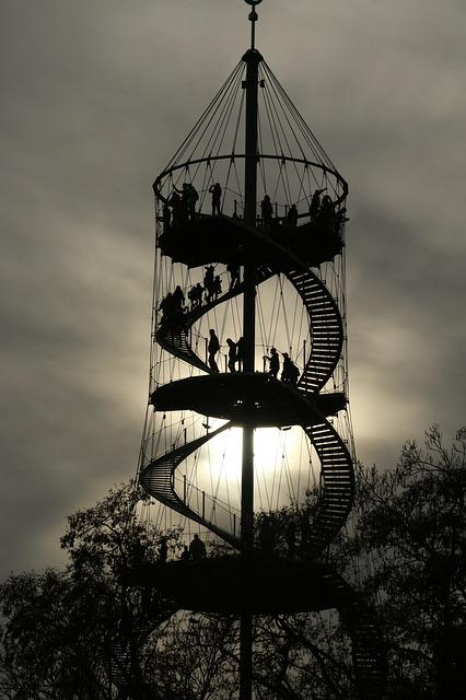 Spiral Staircase, Observation Tower, Killesberg, View