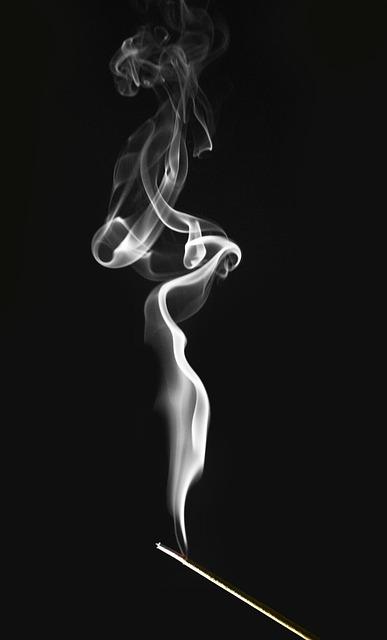 Smoke, Incense, Spirals, Swirls, Contrast, Burn, Smell