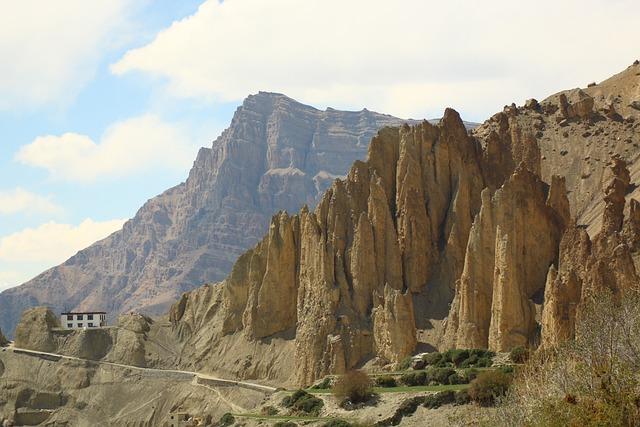 Himachal Pradesh, Spiti Valley, Rocky Mountains, Green