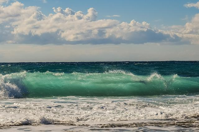 Wave, Smashing, Sea, Coast, Nature, Beach, Blue, Splash