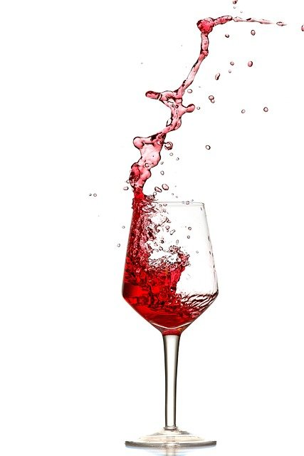 Red Wine, Splash, Pour Out, Spray, Wine Glass, Glasses