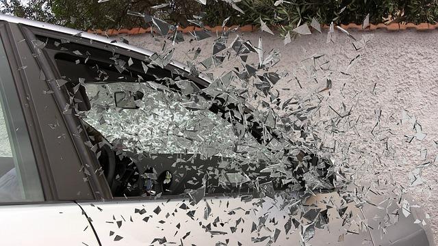 Car Accident, Broken Glass, Splatter, Glass, Broken