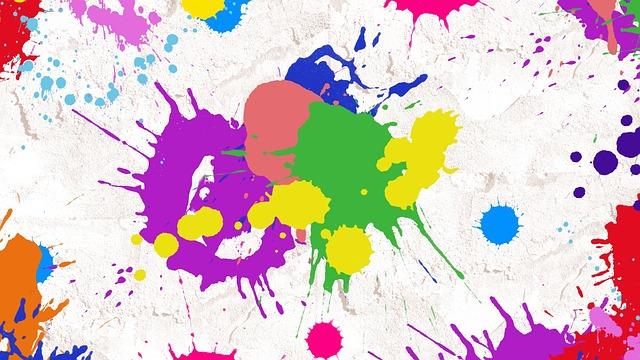 Splatter Paint, Abstract, Art, Paint, Splatter