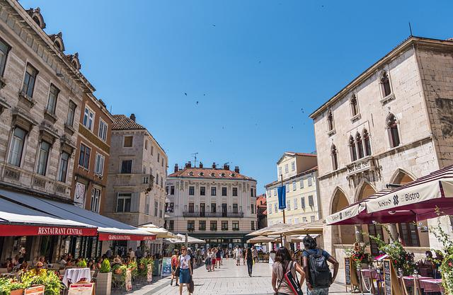 Split, Croatia, Sky, Blue, Tourism, Restaurants