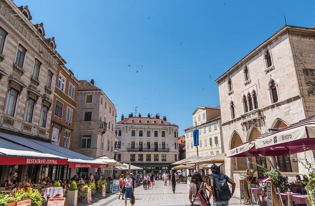Split, Croatia, Sky, Blue, Tourism, Restaurants