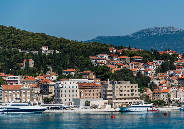 Split, Croatia, Architecture, Mountains, Landscape