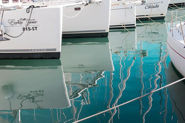 Croatia, Split, Sea, Yachts, Reflection, Boat