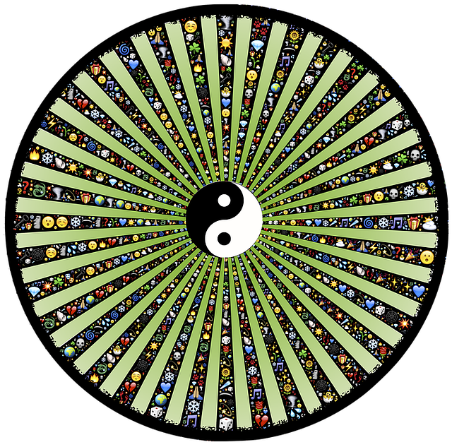 Wheel, Spoke, Rays, Radiate, Tunnel, Tao, Emoji, Icons