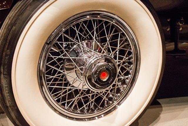 Spokes, Chrome, Wheel, Whitewall, Tire, Vintage, Old