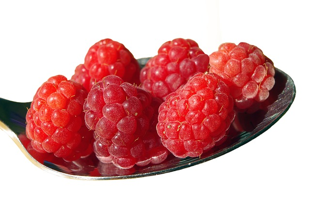 Raspberries, Fruit, Spoon, Eat, Dessert, Fruits