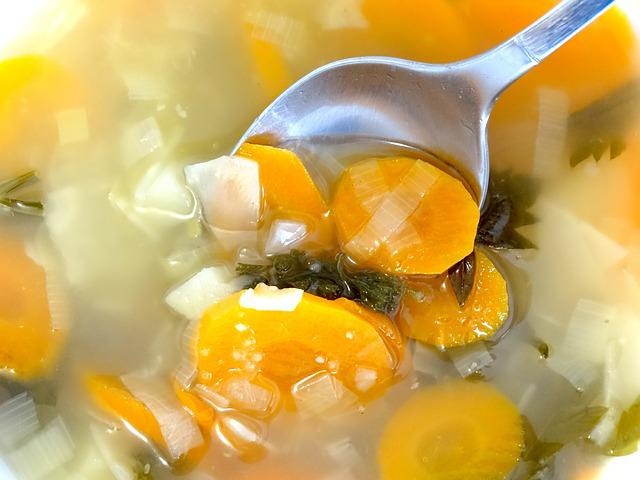 Vegetable Soup, Soup, Spoon, Eat, Food, Cook, Boiled