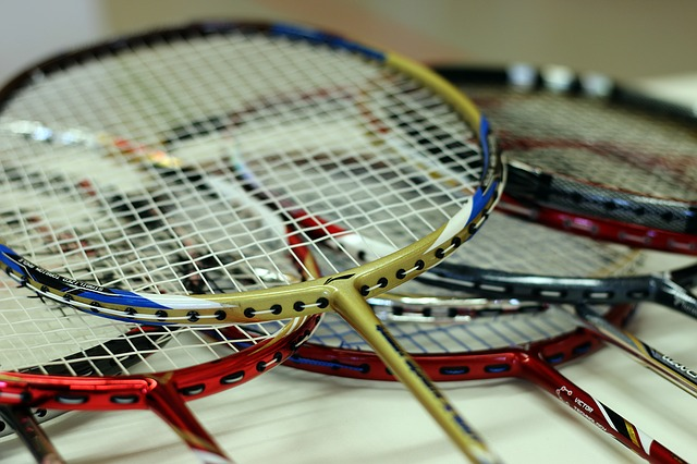 Badminton, Badminton Racket, Bat, Strings, Sport