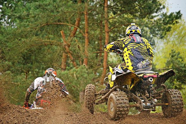 Quad, Race, Sport, Motocross, Motorcycle, Competition