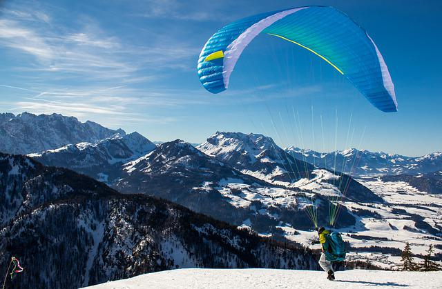 Paragliding, Sport, Paraglider, Mountains, Flying