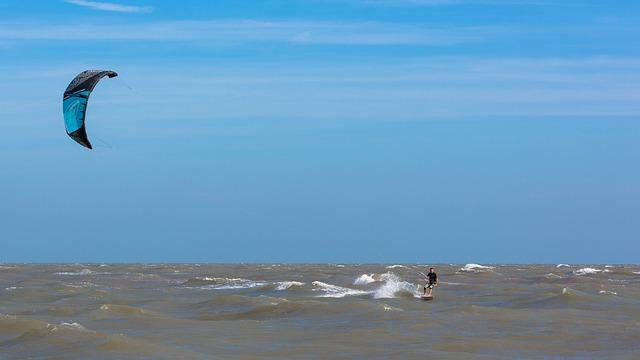 Kite Surfer, Wind, Sea, Sky, Surfer, Surfing, Sport