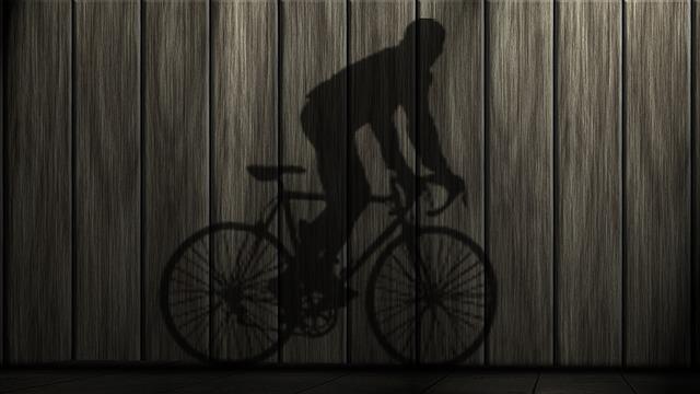 Bike, Shadow, Sport, Hispanic, Human, Shadow Play