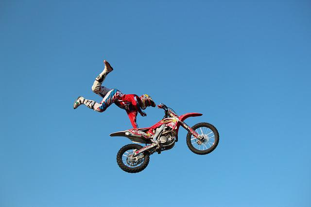 Motorcycle, Jump, Sport, Stunt