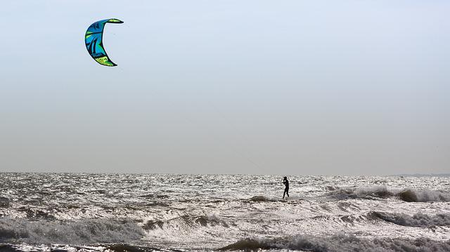 Kite Surfer, Wind, Sea, Sky, Surfer, Surfing, Sport