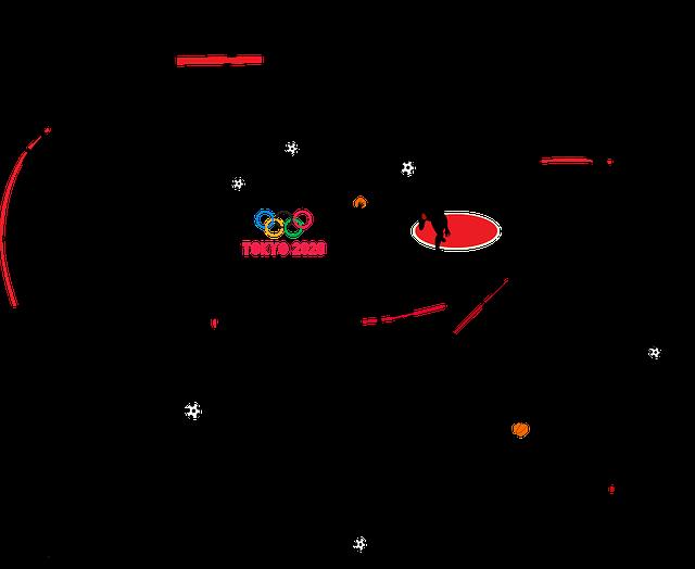 Tokyo Summer Olympics, Silhouettes, 2020, Sport