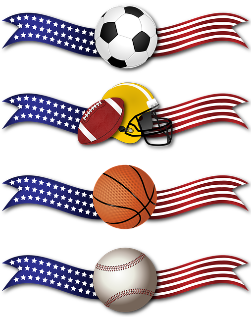 Banner, Sports, Ribbon, Soccer, Football, Basketball