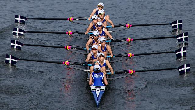 Rowing, Boat, Sports
