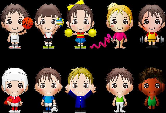 Chibi Kids, Sports, Chibi, Boy, Ball