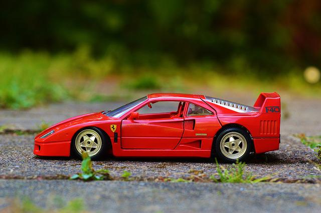Ferrari, Red, Auto, Sports Car, Model Car, Vehicle