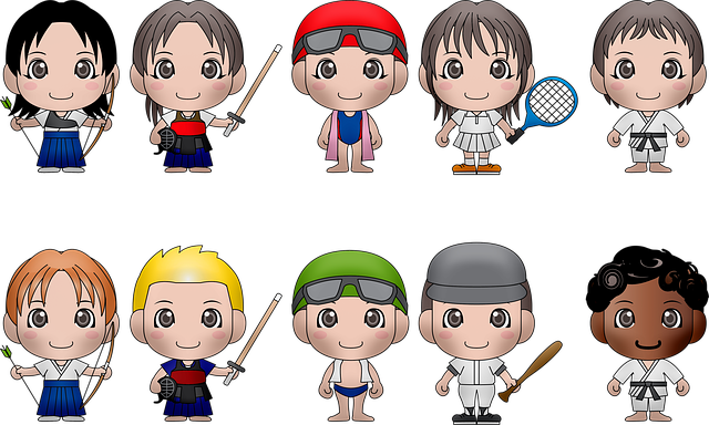 Chibi Kids, Sports, Chibi, Boy, Ball, Character, Young