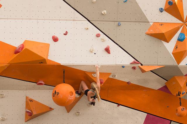 Cliff, Hanger, Climbing, Girl, Sports, Extreme, Wall