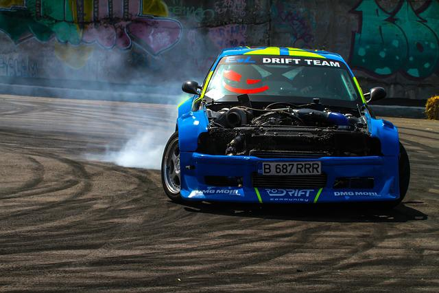 Drift, Auto, Car, Sports, Competition, Romania