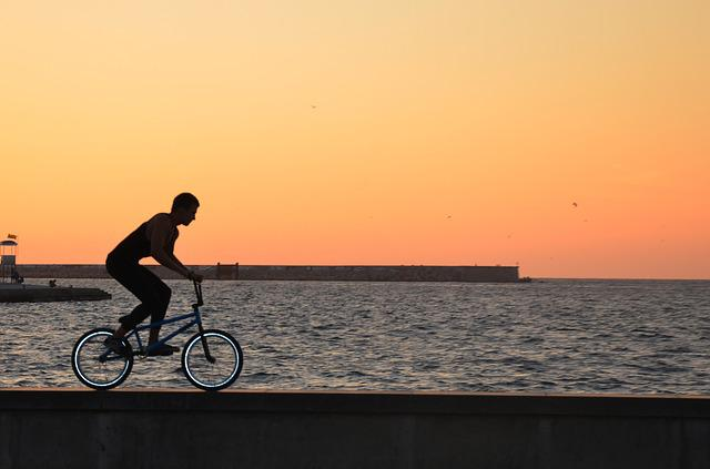Cyclist, Sports, Bike, Sea, Order, Crimea, Cycling