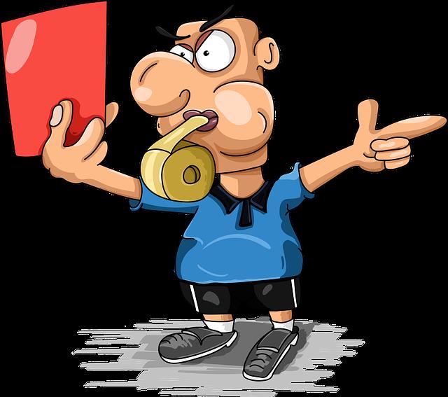 Judge, Football, Red Card, Referee, Sports, Fine