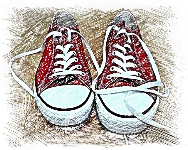 Sneakers, Drawing, Colorful, Sports Shoes