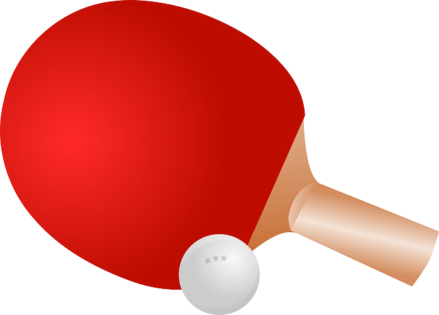 Table Tennis, Ping-pong, Sports, Ball, Red, Bat, Game