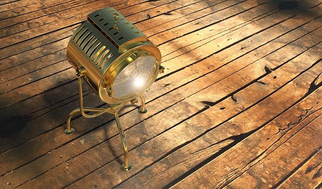 Spot, Lamp, Light, Vintage, Spotlight, Parket, Ground