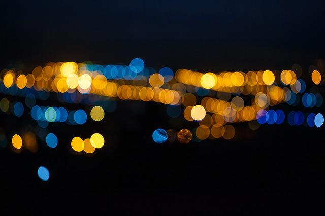 Spot, Night View, The Scenery, Light, Bokeh, City