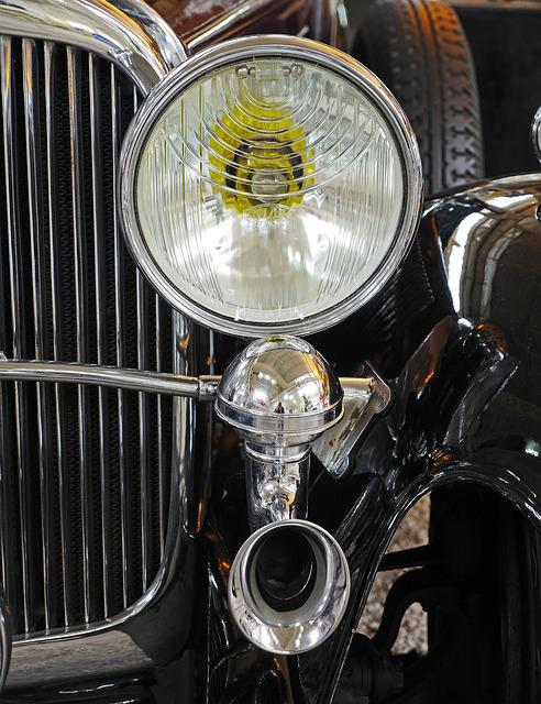 Museum, Oldtimer, Maybach, Spotlight, Horn, Cooler