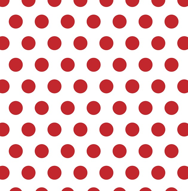Polka Dots, Red, White, Spots, Dots, Background
