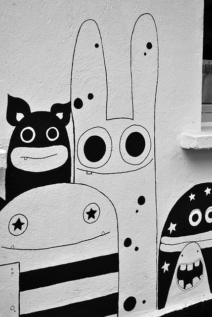 Street Art, Monster, Comic, Graffiti, Spray, Paint