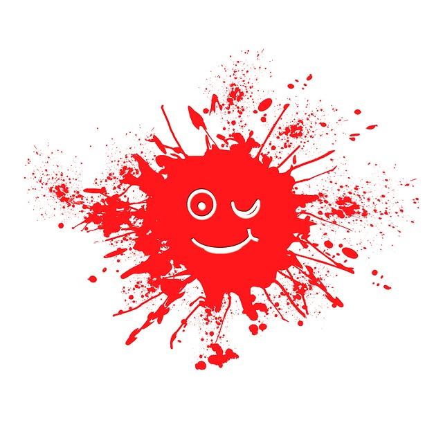 Dab, Farbkleks, Red, Spray, Eyes, Human, Happy, Face