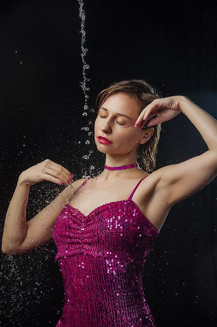 Spray, Glitter, Glamour, Drops, Girl, Star, Dress